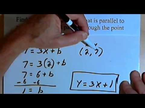 Equation Of A Line Parallel To A Given Line And Passing Through A Given Point 127-4.25