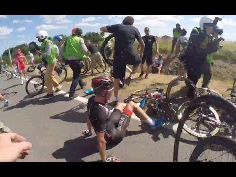 Tour de France 2015 Stage 3 crash - OGE Mechanic Cam