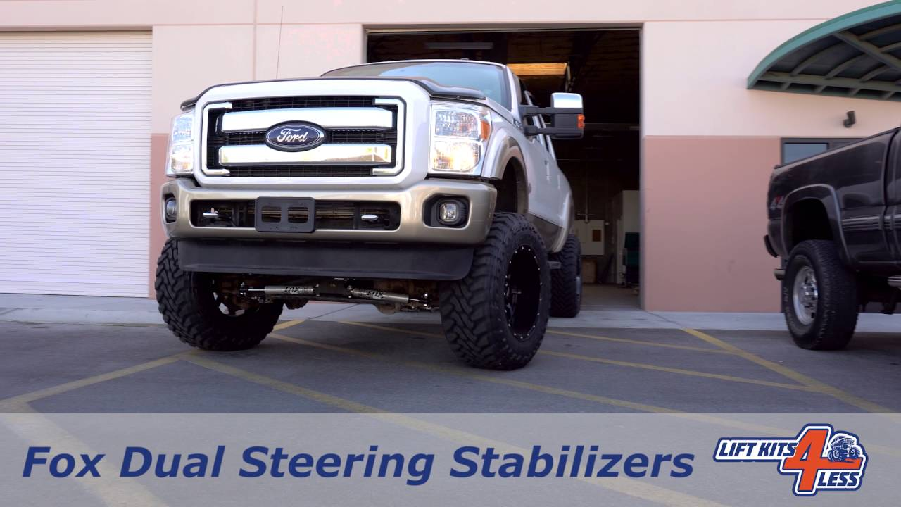 FOX 2 0 Dual Steering Stabilizer Kit | Ford 2005-2016 F250/F350 Super Duty