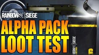 Rainbow Six Siege - In Depth: ALPHA PACK LOOT TEST