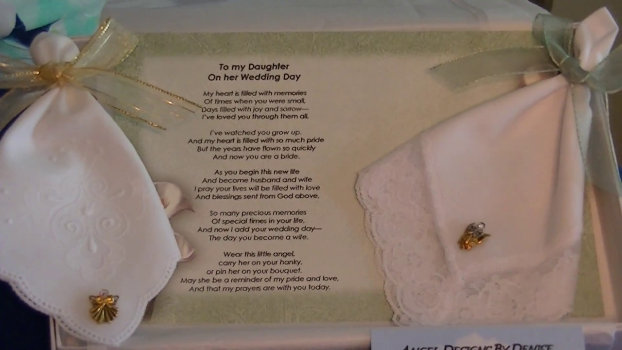To My Daughter On Her Wedding Day Guardian Angel Pin And Hankie Gift