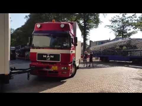 Kermis Wijchen 2016 transport en opbouw deel 4