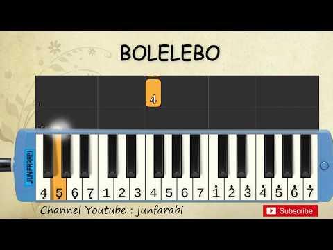 not pianika bolelebo - lagu daerah nusantara indonesia - belajar pianika not angka bolelebo