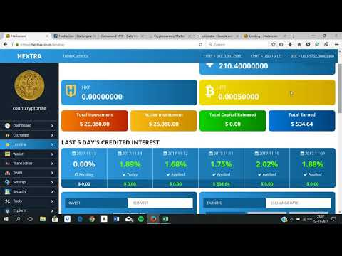 MUST SEE 26000 dollar Lending in Hextracoin. Why im Lending and best Hextra Strategy!!!