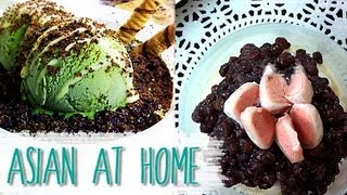 Dessert : Patbingsu (Korean Ice Dessert Recipe) : Old fashion & Green Tea : Asian at Home