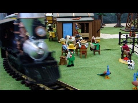 Playmobil train for Plan chateau fort playmobil