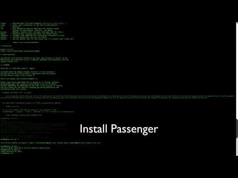 Install Apache2-Passenger-Rails on Ubuntu Server