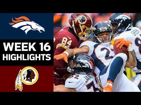 Broncos vs. Redskins | NFL Week 16 Game Highlights