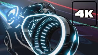 Tron Uprising: All Light Cycle Grid Scenes 4K