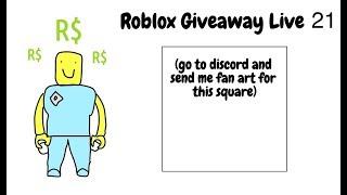 roblox Giveaway live 21 Wiederholung