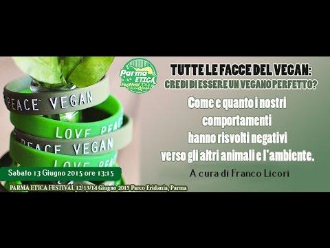 """Credi di essere un vegano perfetto?"""" A cura di Franco Licori Parma etica festival"""