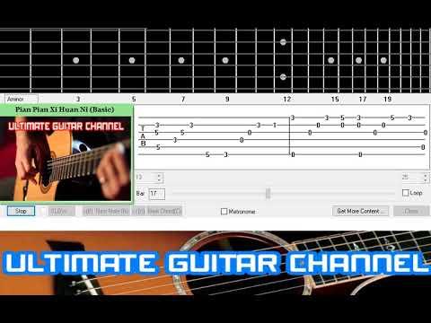 [Guitar Solo Tab] Pian Pian Xi Huan Ni (Danny Chan)