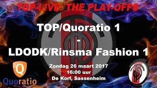Play-off: TOP/Quoratio 1 tegen LDODK/Rinsma Fashion 1, zondag 26 maart 2017
