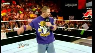 John Cena dance and sing in Raw :D