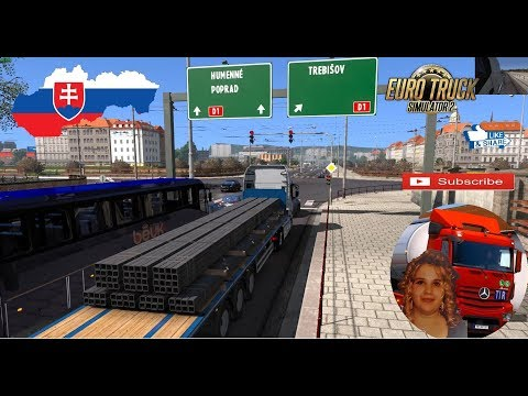 Euro Truck Simulator 2 (1.32) New Slovakia Map Addon by Kimi