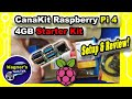 CanaKit Starter Kit for the Raspberry Pi 4 4GB Setup with Heat Sink+Fan install & Test!