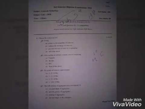 Civil diploma 3rd Semmester question papers 2016