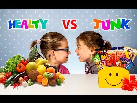 Healthy food vs Junk food Challenge | Sweet vs real food | Kids