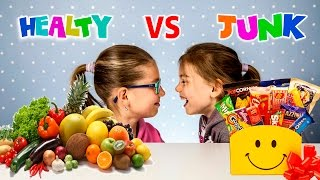 Healthy food vs Junk food Challenge | Sweet vs real food | Kids challenge