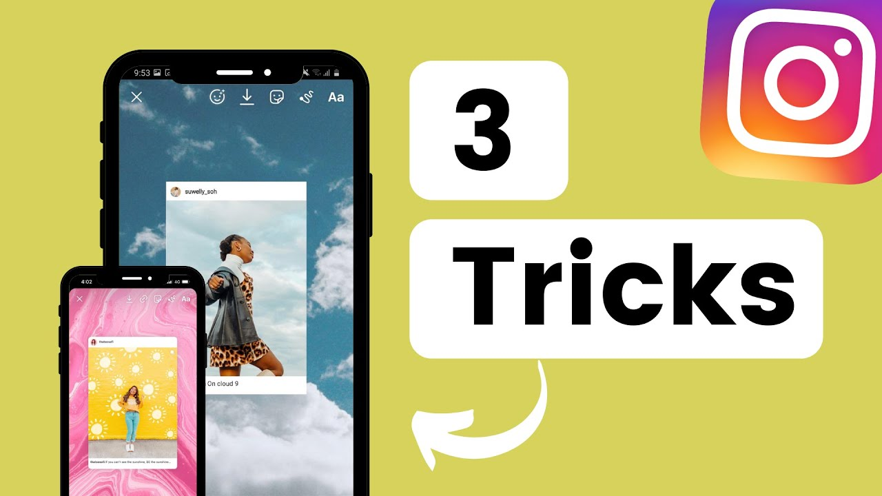 How to add Background Photo when Sharing a Feed Post to your Instagram Stories (iPhone + Android)