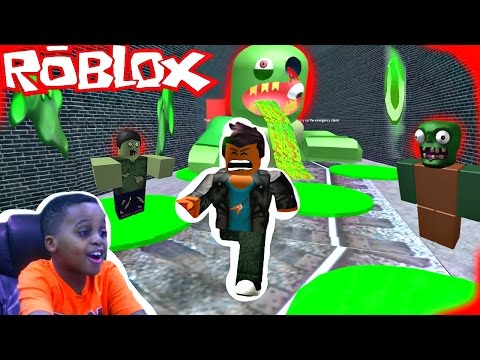 FALLING IN ZOMBIE ACID! Let's Play ROBLOX ESCAPE THE SUBWAY! - Playonyx