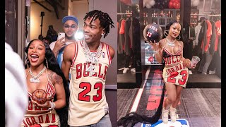 Lil Baby Throws Air Jordan Party For GF Jayda Cheaves 23rd Birthday Party