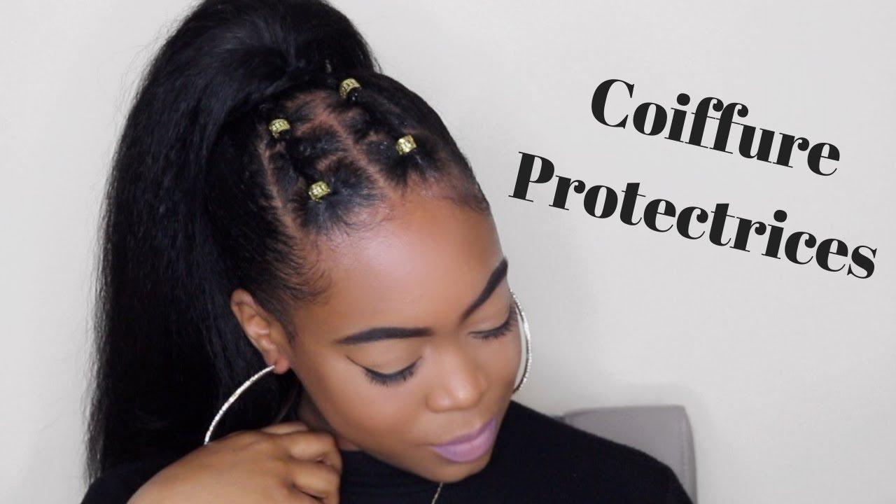 TUTO COIFFURE PROTECTRICE facile à faire sur cheveux crépus