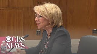 Dick Durbin, Betsy DeVos get in heated exchange over Special Olympics funding