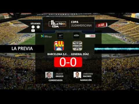 EN VIVO   Barcelona SC vs General Díaz, en formato radio digital