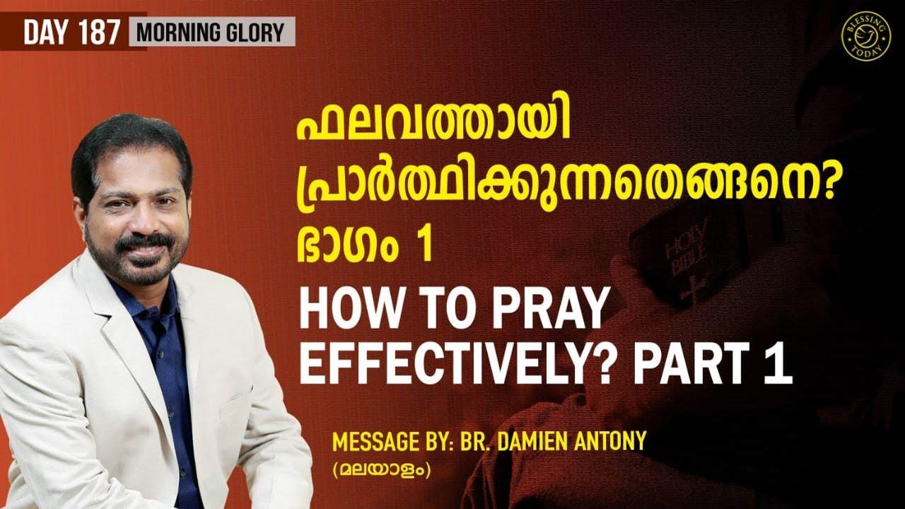 Download How To Pray Effectively? (Part 1)   ഫലവത്തായി പ്രാർത്ഥിക്കുന്നതെങ്ങനെ? (ഭാഗം 1)   Morning Glory -187