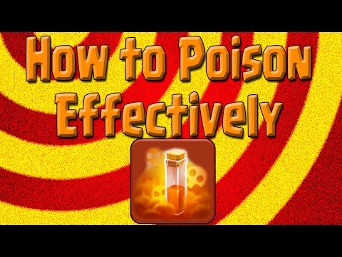 Clash of Clans - How to Use the poison Spell Post Update! - Keep the troops in the Poison!