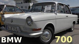 BMW 700 LS Luxus Baujahr 1962 auf der Straße - BMW Classic Car on the road