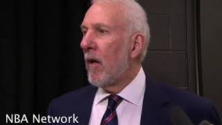 Gregg Popovich after Spurs win [vs Nuggets], Praises Davis Bertans, Talks MLK Day