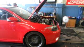 TRD Supercharged Scion tC on Dyno
