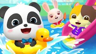 Five Little Kids Swimming in the Pool | Learn Numbers | Nursery Rhymes | Kids Songs | BabyBus