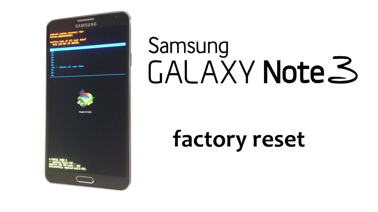 Samsung GALAXY Note 3 Hard Reset Remove Password Lock Wipe Data Factory
