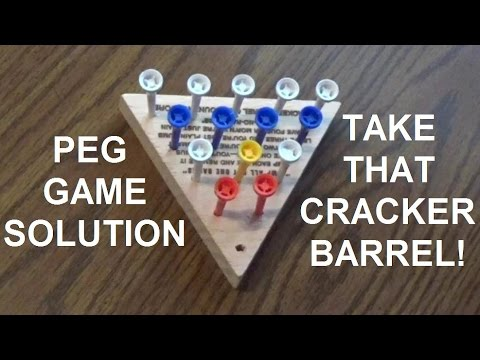 The Cracker Barrel Peg Game Solution - You Too Can Be A Genius!
