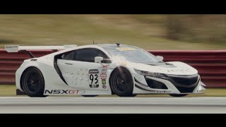 RealTime Racing Tests the New Acura NSX GT3 on Forgeline GE1R Wheels at Mid-Ohio