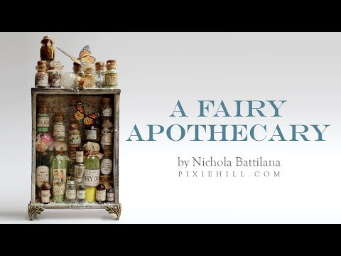 A Fairy Apothecary - Creating Aged Glass and Tips
