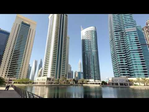Best relax place in Dubai? Jumeirah Lakes Towers near Dubai marina and JBR beach (YI4k+ camera)