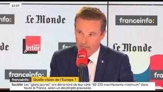 Nicolas Dupont-Aignan invité de France Info