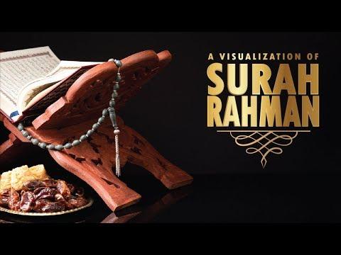 Surah Rahman By Sheikh Sudais | Beautiful Recitation | Visualization | English Translation
