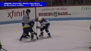 Acton Boxborough Girls Ice Hockey at Boston Latin 12/13/14