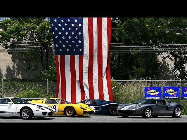 ROARING GT40's at the Simeone Museum
