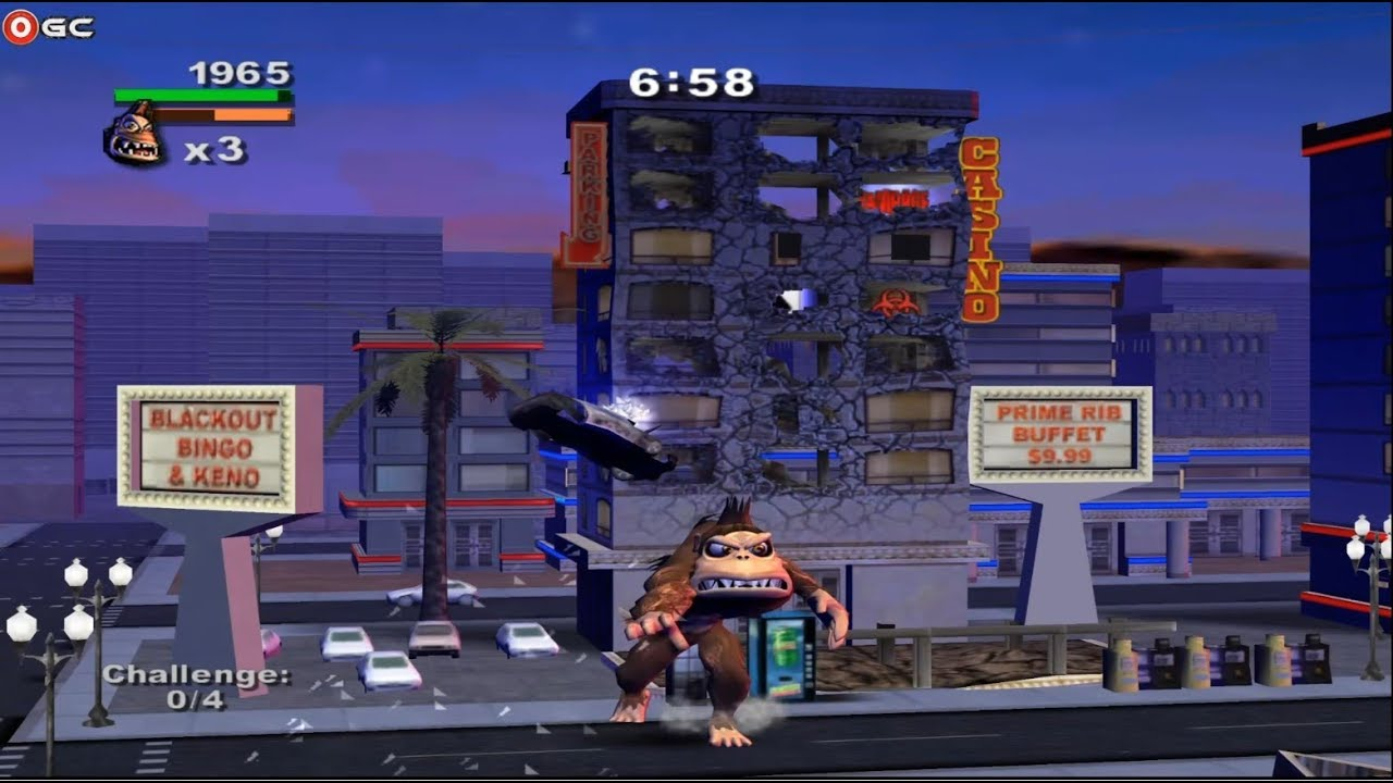 Rampage Total Destruction Nintendo Gamecube Gameplay Fhd Youtube