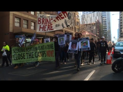 Thousands protest Australia