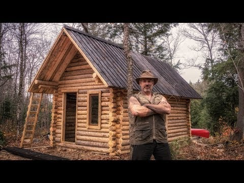 Man Builds Off Grid Log Cabin Alone in the Canadian Wilderne