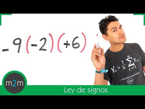 Multiplicación y división de números enteros (ley de signos) - HD