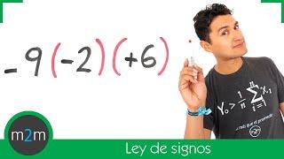 Multiplicación y división de números enteros │ ley de signos