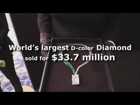 World's largest D-color diamond sold for 33.7 million dollars